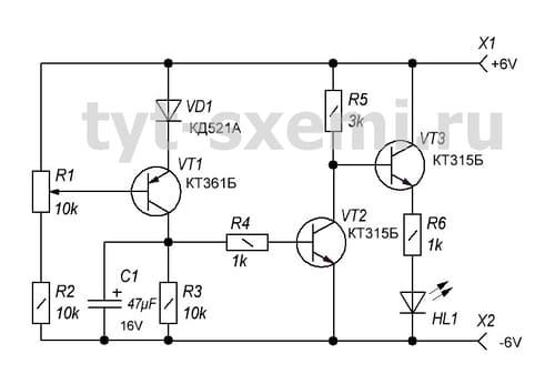 схемы на транзисторах кт315