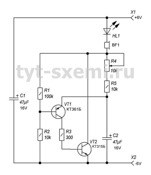 кт315 простые схемы