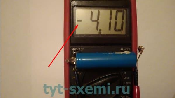 Проверка аккумулятора с помощью мультиметра