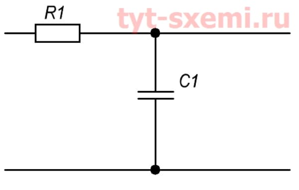 ФНЧ резистор и конденсатор