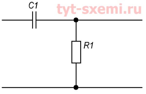 ФВЧ резистор и конденсатор
